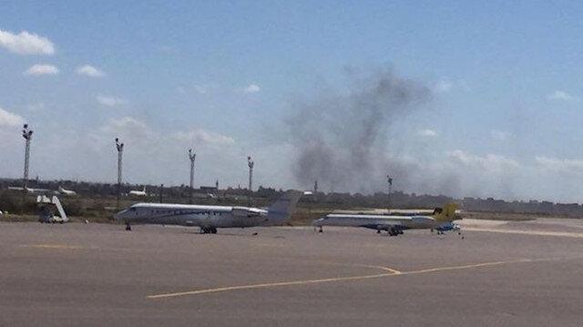 Hafter başkentin tek sivil havalimanının yakınına saldırı düzenledi