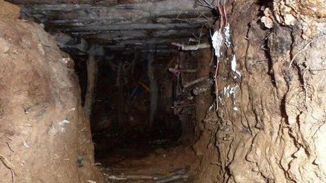 Terör örgütü YPG/PKK, 12 kilometrelik tünele konteynır oda yapmış