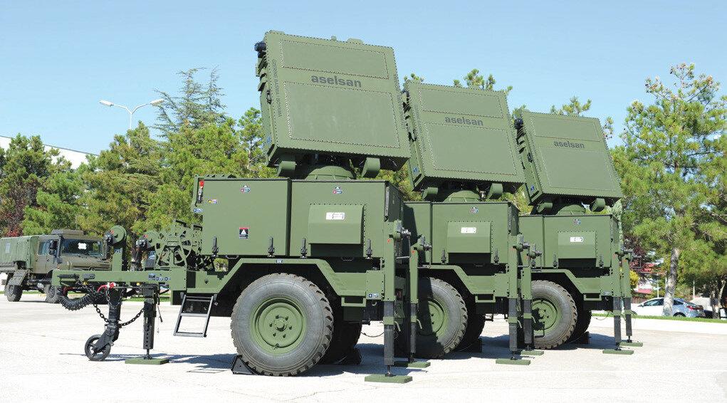 Kalkan-2 orta irtifa 3 boyutlu mobil hava savunma sistemi.