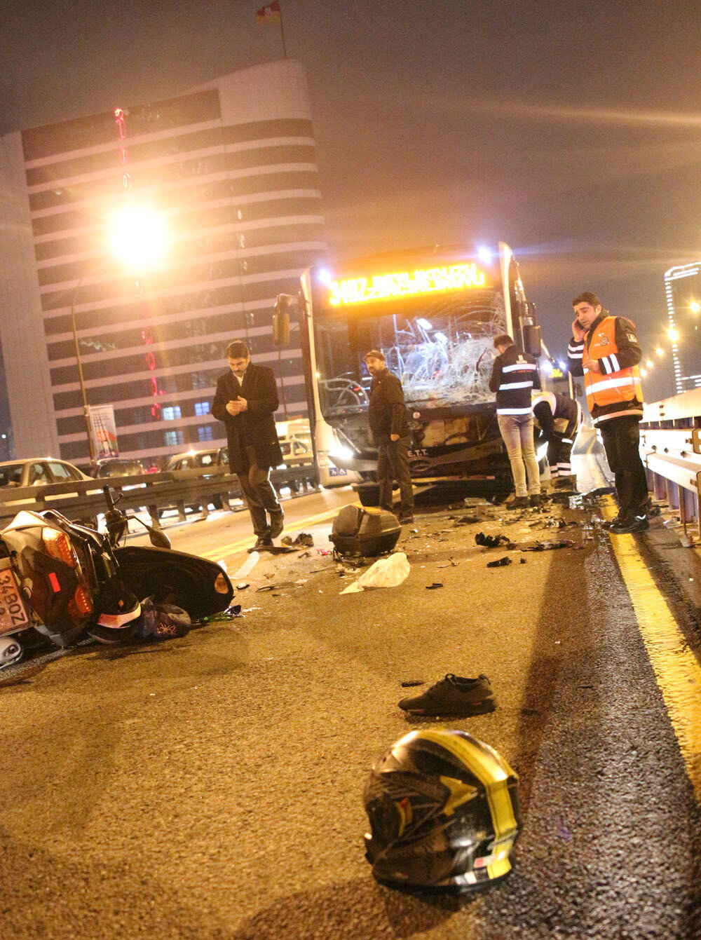 Kaza yerinden gelen görüntü