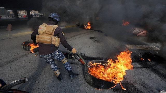 Irak yangın yeri: Protestolar nedeniyle resmi tatil ilan edildi