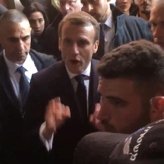 Macron İsrail polisiyle tartıştı