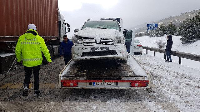 Gerede-Karabük yolunda zincirleme kaza: 8 kilometrelik kuyruk oluştu