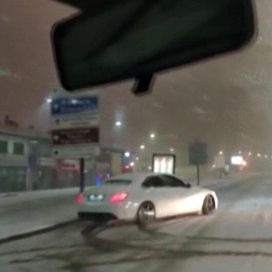 Karda drift pahalıya patladı