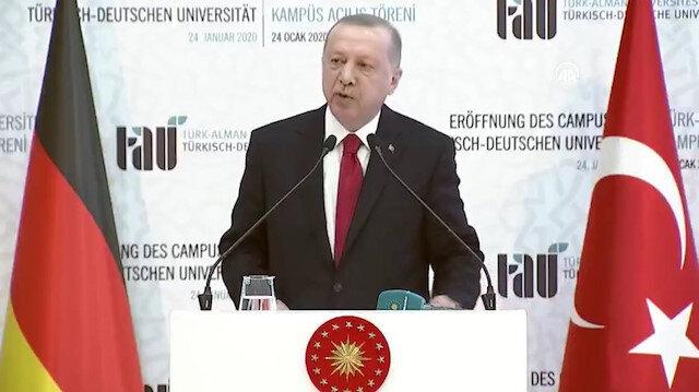 Cumhurbaşkanı Erdoğan ve Merkel Türk-Alman Üniversitesi yeni binalarının açılış töreni'nde