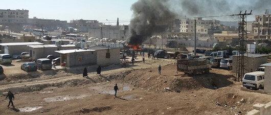 Türkiye sınırında <br>bombalı saldırı