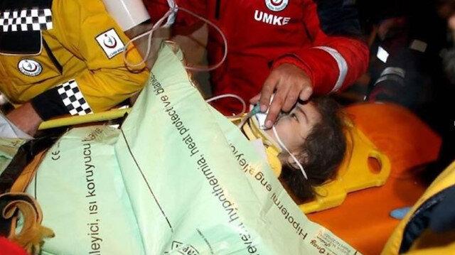 2 buçuk yaşındaki Buse depremden 24 saat sonra enkazdan kurtarıldı