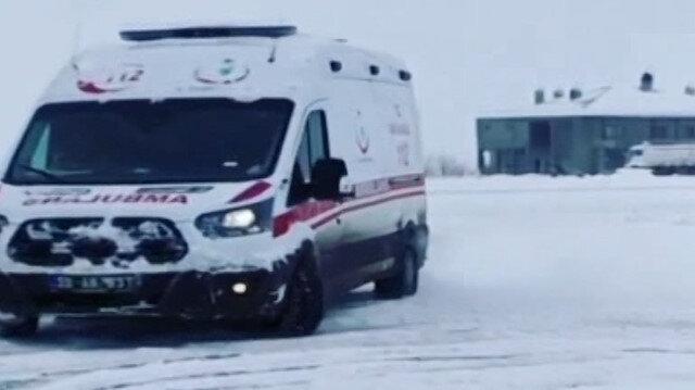 Drift yapan ambulans şoförüne soruşturma başlatıldı