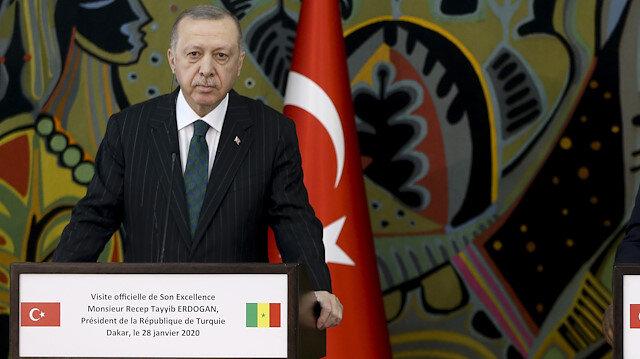Cumhurbaşkanı Erdoğan Senegal'de: 7 anlaşma imzalandı