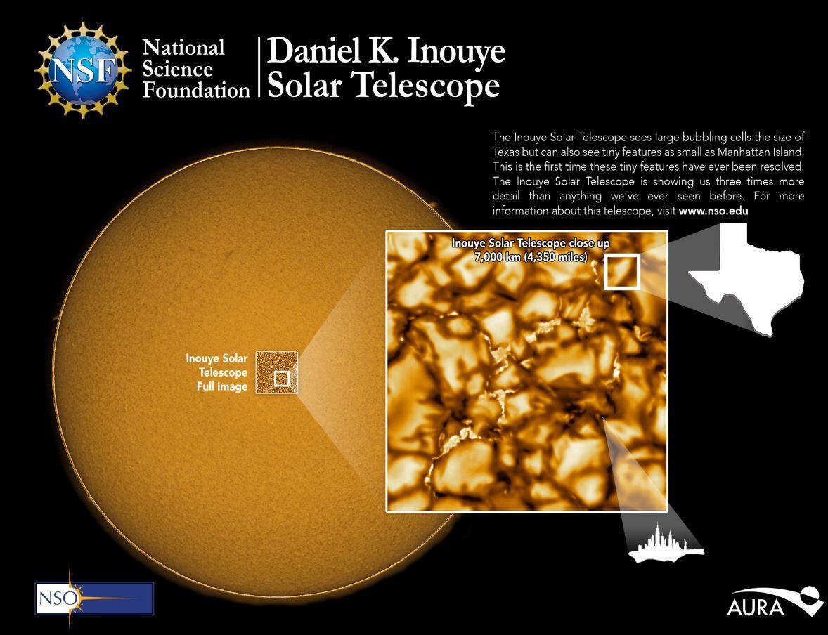 Güneş'in yüzeyinin en net fotoğrafını yayınlandı.