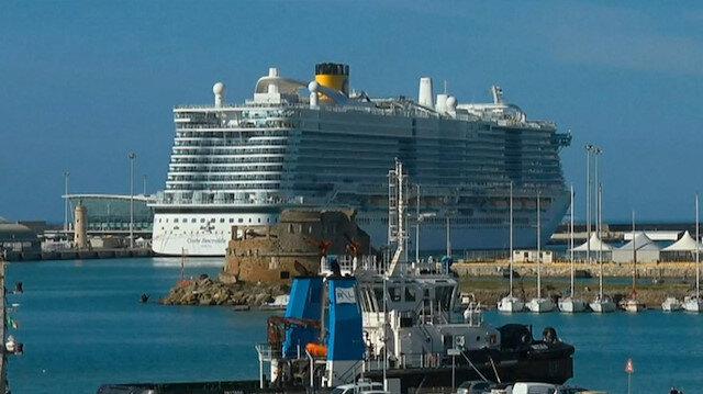 İtalya'daki gemide koronavirüsüne rastlanmadı