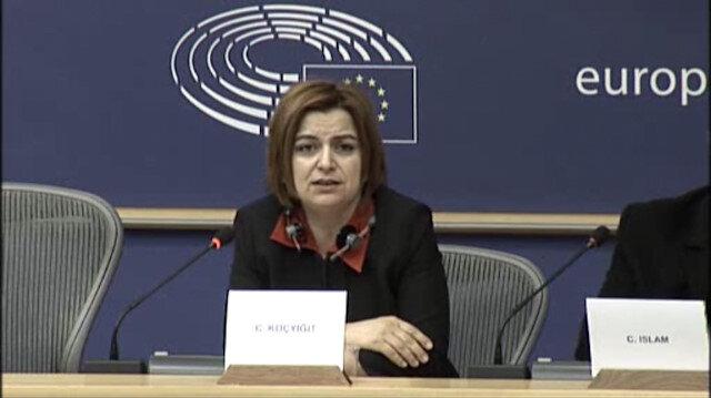 Kırmızı bültenle aranan PKK'lılar Avrupa Parlamentosunda ortaya çıktı