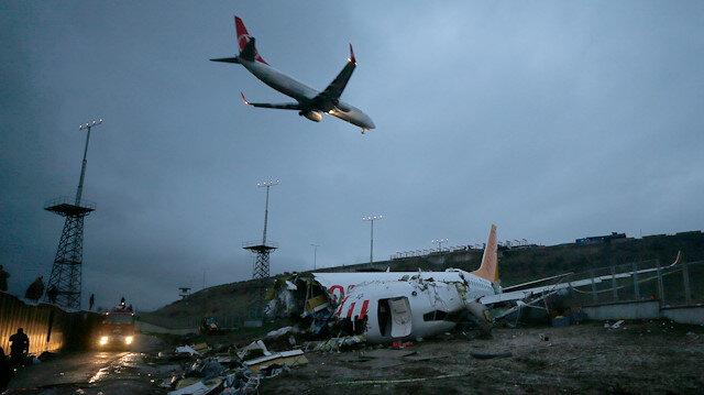 Sabiha Gökçen Havalimanında uçuşlar tekrar başladı