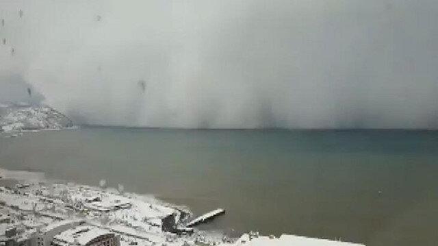 Artvin'de kaydedilen görüntüler şaşırttı: Kar fırtınası anbean kaydedildi