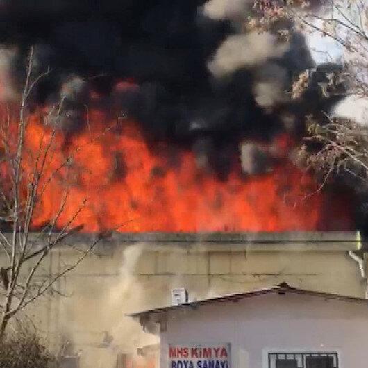 Gaziantepte bir fabrikada yangın çıktı