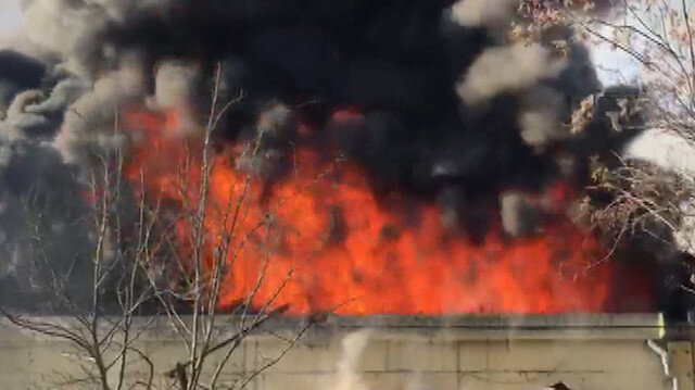 Gaziantep'te bir fabrikada yangın çıktı