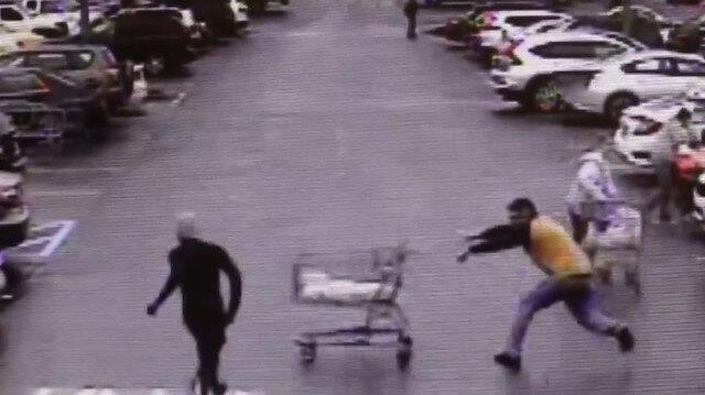 Alışveriş sepetiyle hırsızı yakalattı