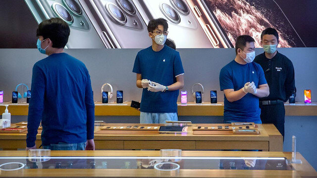 Koronavirüs salgını Apple'ın ocak-mart gelir beklentisini de olumsuz etkiledi
