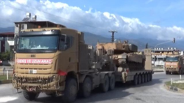 Suriye sınırına askeri sevkiyat: Çok sayıda obüs ve zırhlı personel taşıyıcısı yola çıktı