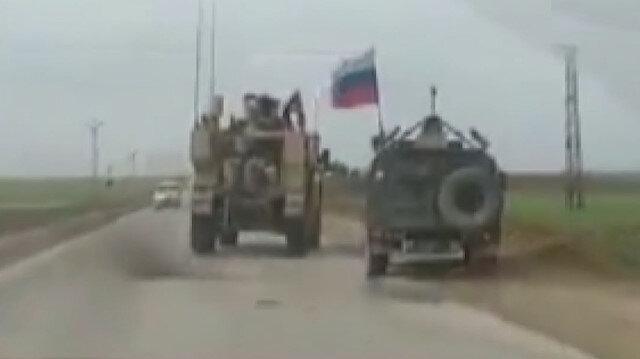 Kamışlı'da ABD zırhlı aracı Ruslara ait zırhlı aracın önüne kırdı
