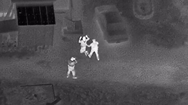 Helikoptere lazer tutan kişi tutuklandı