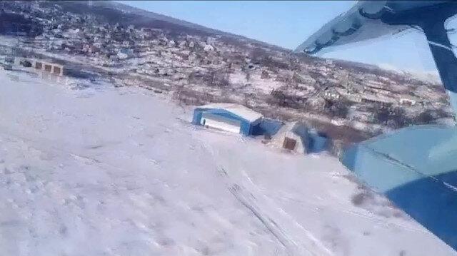 Rus uçağının düşme anı saniye saniye görüntülendi