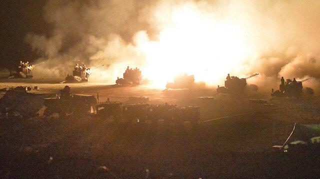 Alçak saldırı sonrası misliyle karşılık verildi: 21 rejim hedefi ateş altına alındı