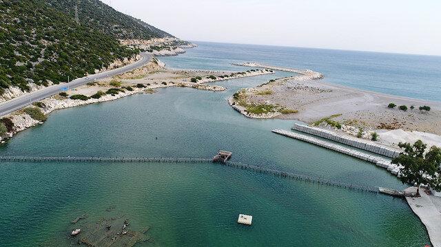 Demre'deki Beymelek Dalyanı 44 tür balığın doğal yaşam alanı