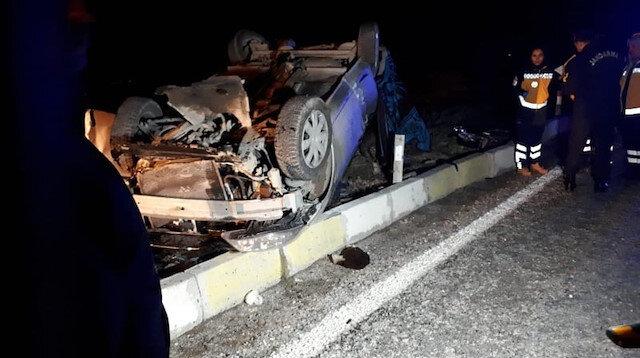 Denizli'de yolcu otobüsü ile otomobil çarpıştı: 3 kişi hayatını kaybetti