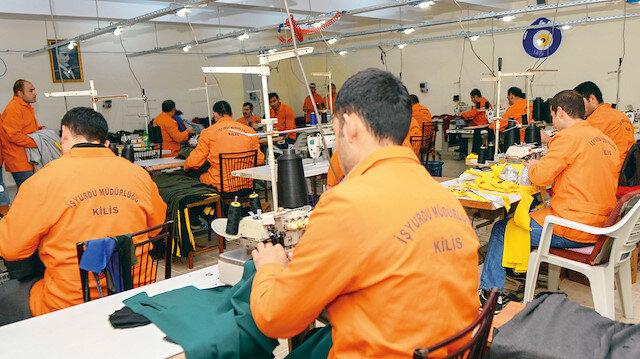 Mahkumların hayatı üretimle değişiyor