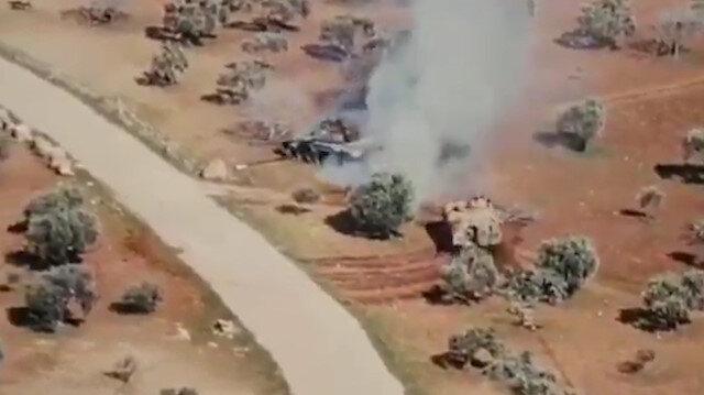 Rus tankı arkasına bakmadan kaçtı