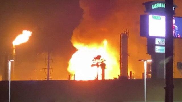 ABD'de bir petrol rafinerisinde yangın çıktı
