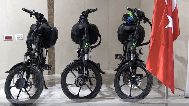 TİKA'dan Filistin Postane Müdürlüğü'ne elektrikli bisiklet desteği