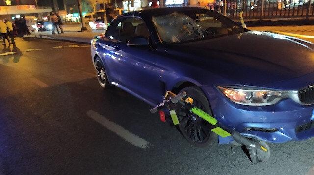 Elektrikli scooterla yolun karşısına geçmeye çalıştı, feci şekilde can verdi