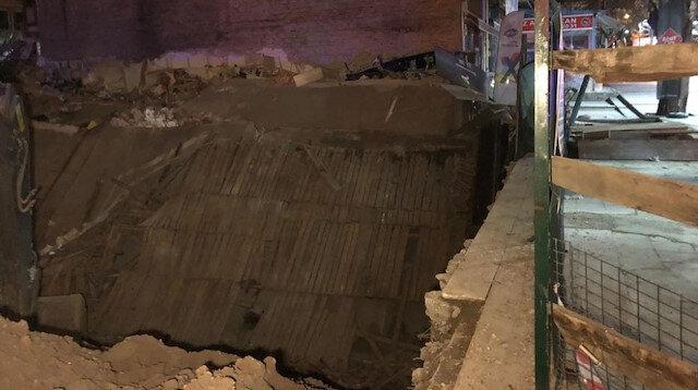 Başkentte inşaat temel kazısının bitişiğindeki üç katlı dükkan çöktü: Facianın eşiğinden dönüldü