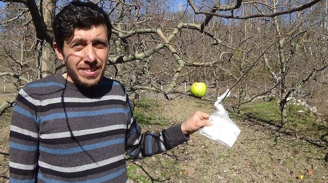 Hamile eşi aş erince parasını ağaca astı