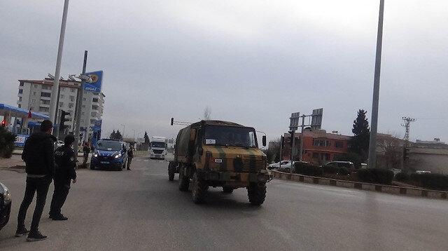 Kilis'ten İdlib'e 22 araçlık askeri konvoy