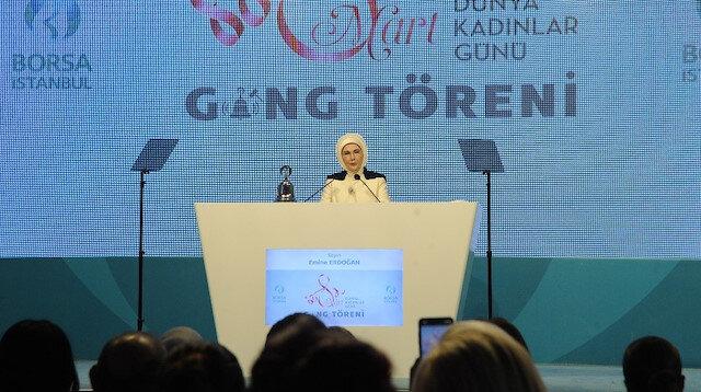 Emine Erdoğan: Kadınların iş gücüne katılımı erkeklere göre 4 kat fazla arttı