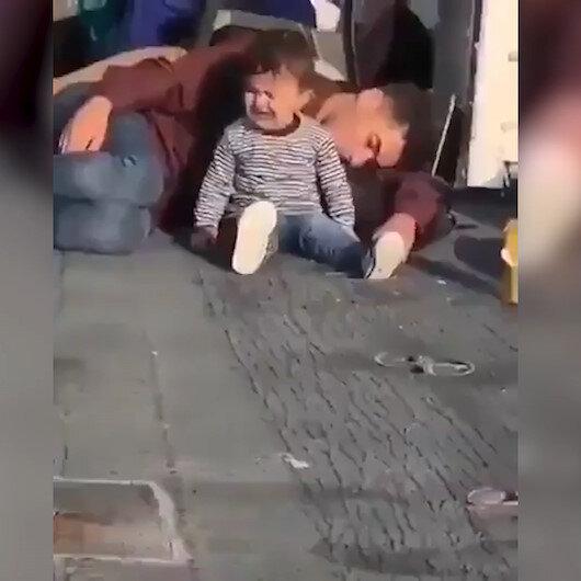 Yunanistan sınırında yürek sızlatan görüntü