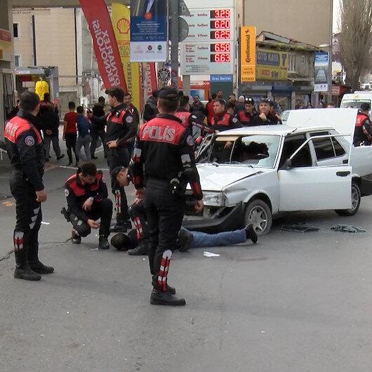 Beyoğlunda polisten kaçan şüpheli ortalığı birbirine kattı