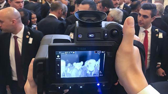 Cumhurbaşkanı Erdoğan'a termal kameralı koronavirüs önlemi