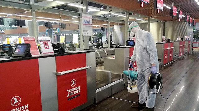 İstanbul Sabiha Gökçen Havalimanı virüslere karşı dezenfekte edildi