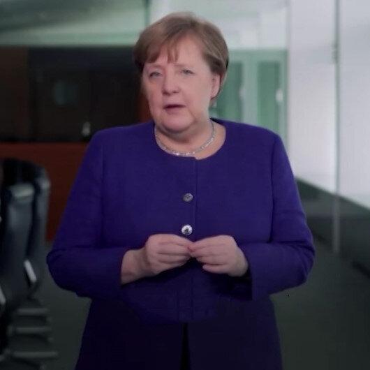 Merkel'den, Türkçe alt yazılı korona virüsü mesajı