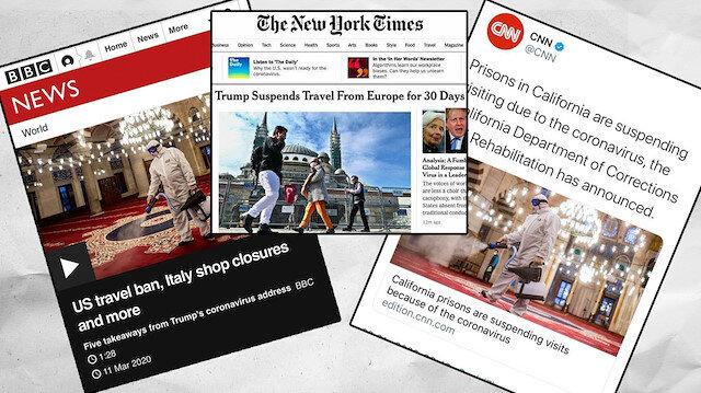 Batı medyası koronavirüs üzerinden İslamofobiyi körüklüyor