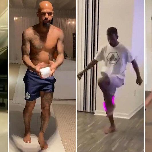 Yıldız futbolcular evlerinden çektikleri videolarla yeni akım başlattı