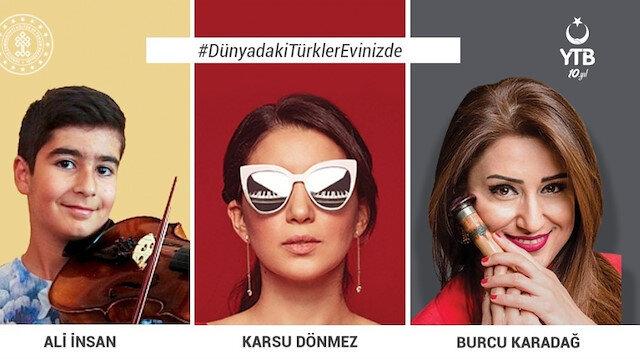 YTB'den koronavirüs nedeniyle evinde kalan Türk vatandaşlarına 'online' canlı konserler
