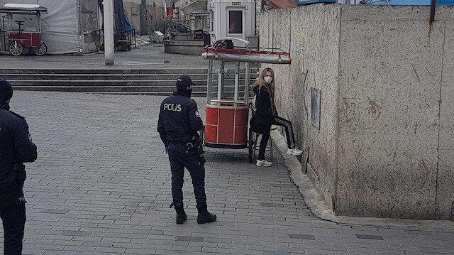 Taksim İlkyardım Hastanesi'nden karantinadan kaçan kadın yakalandı