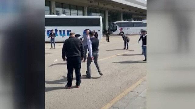 AŞTİ çalışanları boşalan terminalde futbol oynadı