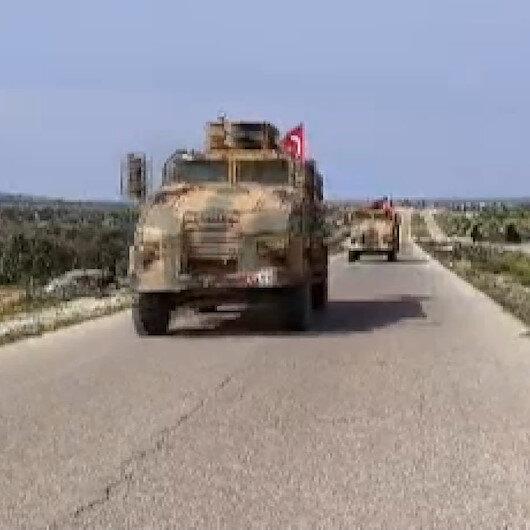 TSK İdlibdeki M4 kara yolunda devriye gerçekleştirdi