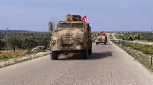 TSK İdlib'deki M4 kara yolunda devriye gerçekleştirdi